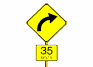 Curve Advisory Signs
