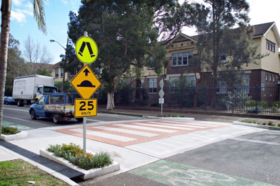 Raised pedestrian crossings